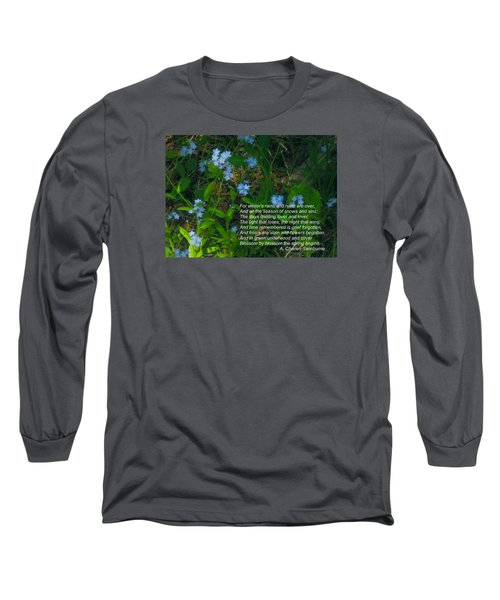 Time Remembered Is Grief Forgotten Long Sleeve T-Shirt by Deborah Dendler