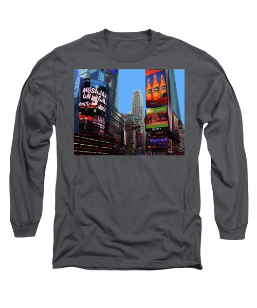 Long Sleeve T-Shirt featuring the photograph Times Square 2 by Walter Fahmy