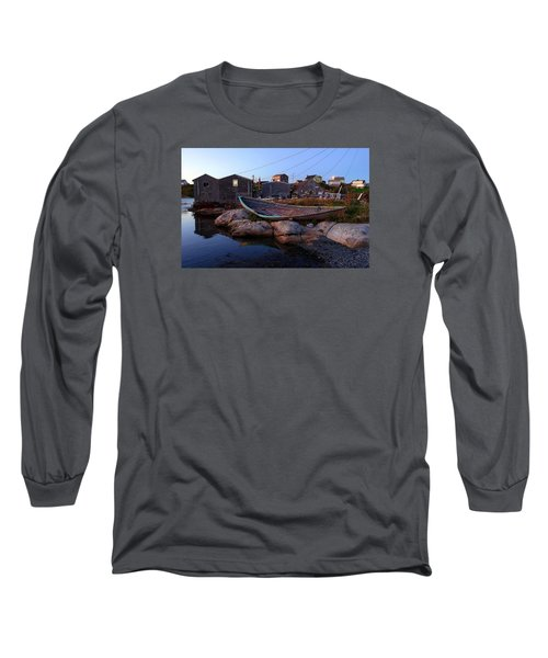 Peggy's Cove, Nova Scotia Long Sleeve T-Shirt by Heather Vopni