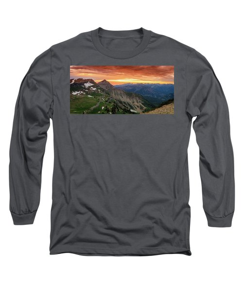 Timp Sunset Panorama Long Sleeve T-Shirt