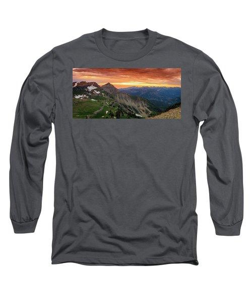 Timp Sunset Panorama Long Sleeve T-Shirt
