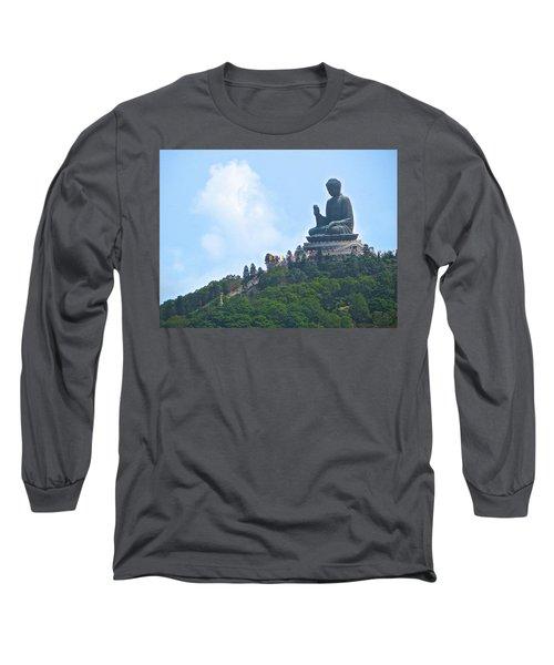 Tin Tan Buddha In Hong Kong Long Sleeve T-Shirt