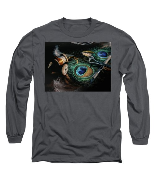 Tinsel Rust Nymph Long Sleeve T-Shirt by Jeffrey Jensen