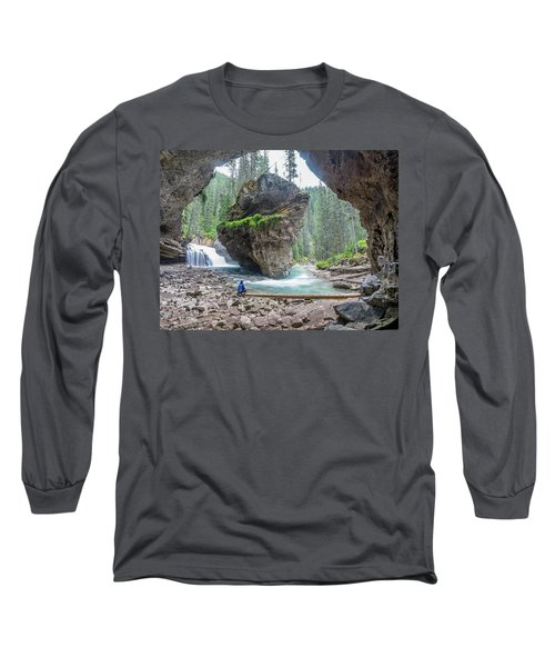 Tiny People Big World Long Sleeve T-Shirt by Alpha Wanderlust