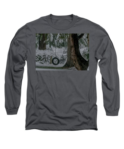 Tire Swing In Winter Long Sleeve T-Shirt