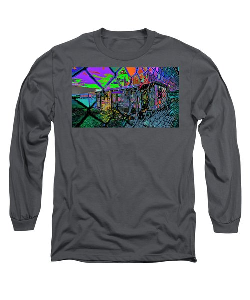 Tires And Broke Behind The Fence Long Sleeve T-Shirt