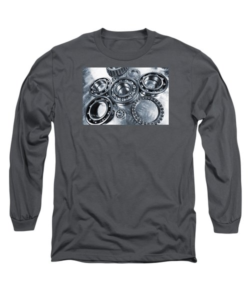 Titanium And Steel Ball-bearings Long Sleeve T-Shirt by Christian Lagereek