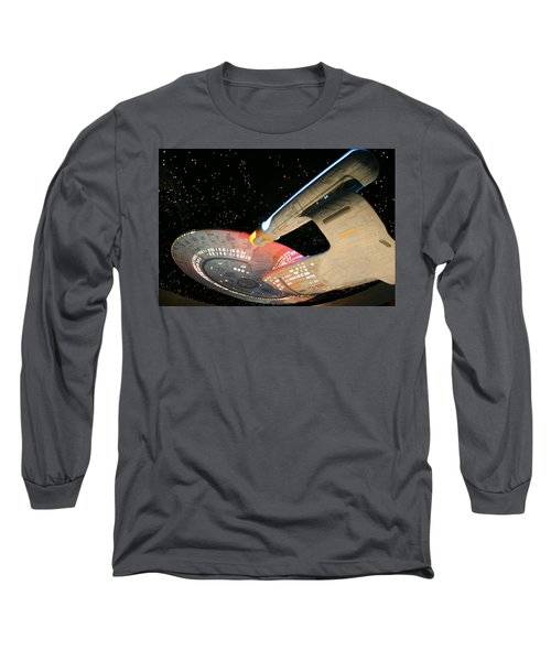 To Boldly Go Long Sleeve T-Shirt by Kristin Elmquist