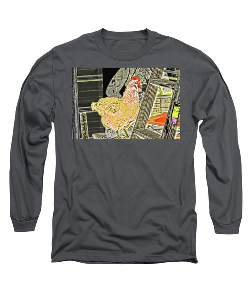 To Climb The Corporate Ladder . . . Long Sleeve T-Shirt by Gina O'Brien