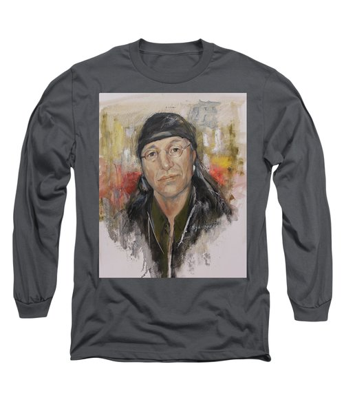 To Honor John Trudell Long Sleeve T-Shirt by Synnove Pettersen