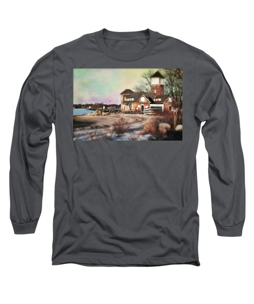 Tod's Point Beach House Long Sleeve T-Shirt by Diana Angstadt