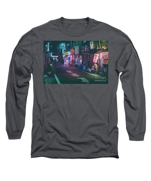Tokyo Side Streets, Japan Long Sleeve T-Shirt