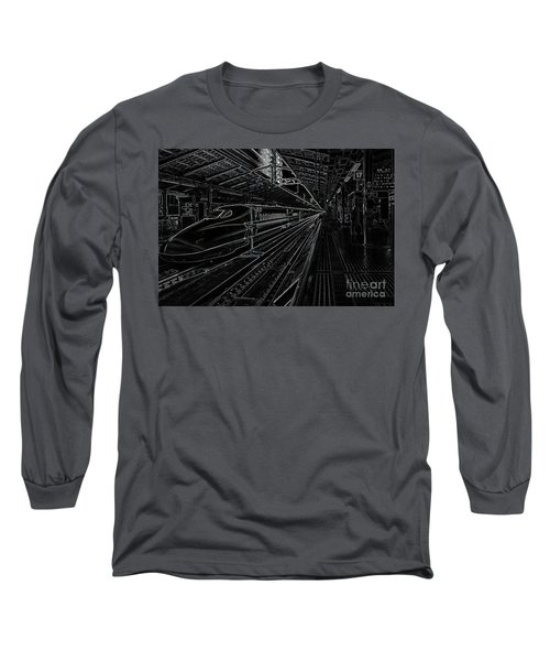 Tokyo To Kyoto, Bullet Train, Japan Negative Long Sleeve T-Shirt