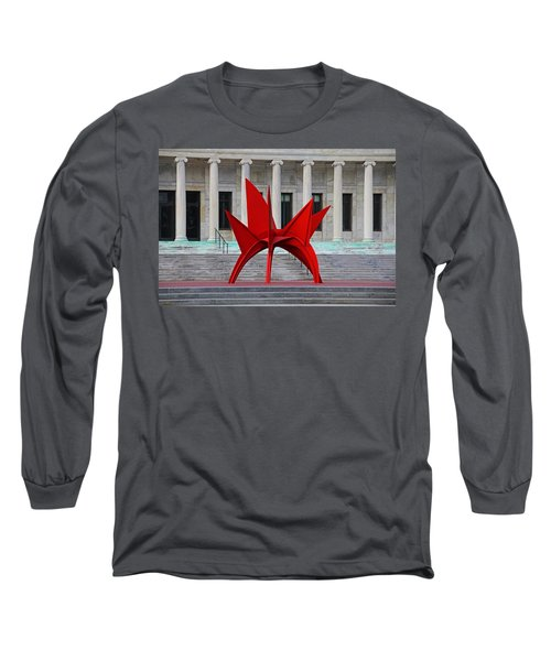 Toledo Museum Of Art With Alexander Calder 1973 'stegosaurus' II Long Sleeve T-Shirt