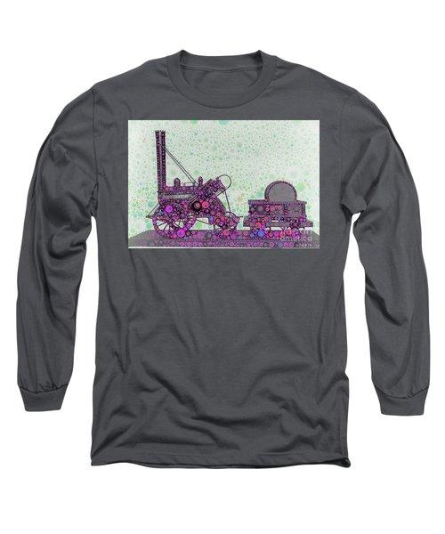 Stephenson's Rocket Steam Locomotive 1829 Long Sleeve T-Shirt