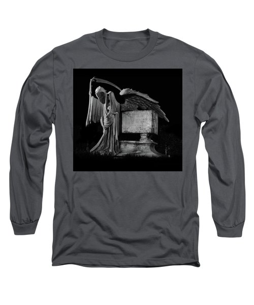 Long Sleeve T-Shirt featuring the mixed media Tomas Riddle Tomb Harry Potter by Gina Dsgn