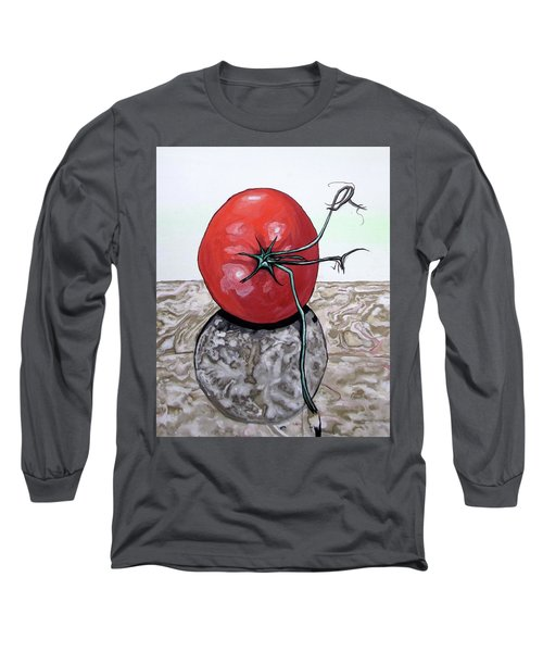 Tomato On Marble Long Sleeve T-Shirt by Mary Ellen Frazee