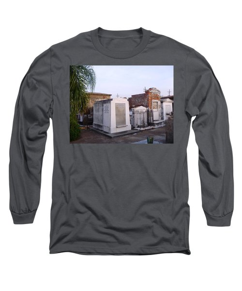 Tombs In St. Louis Cemetery Long Sleeve T-Shirt