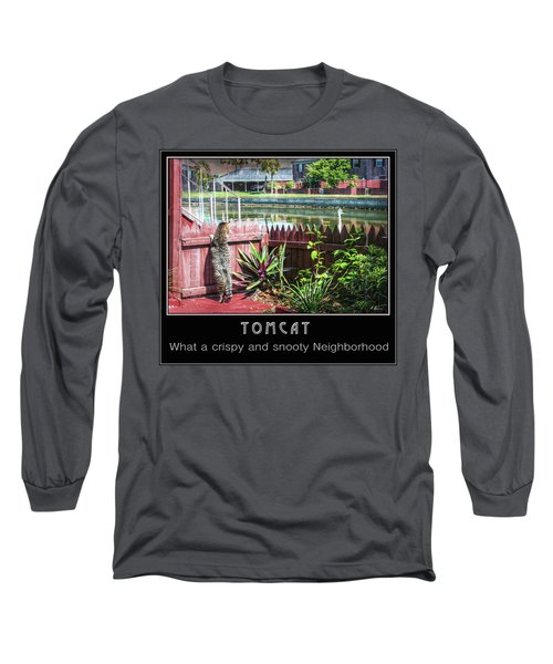 Long Sleeve T-Shirt featuring the photograph Tomcat Breakfast by Hanny Heim