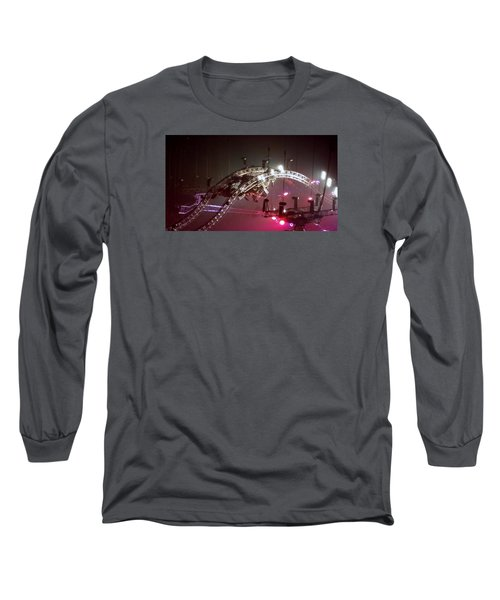 Tommy Lee Motley Crue Farewell Tour Brooklyn N Y 2015 Or Flying Drums Long Sleeve T-Shirt by Rob Hans