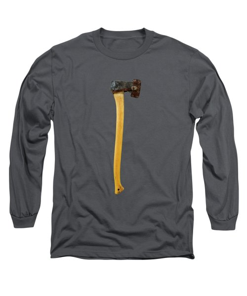 Tools On Wood 11 On Bw Long Sleeve T-Shirt by YoPedro