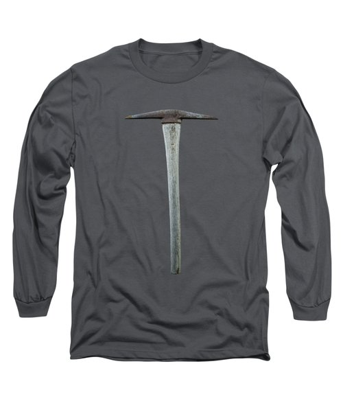 Tools On Wood 13 On Bw Long Sleeve T-Shirt by YoPedro