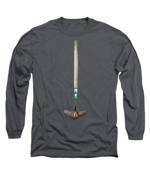 Tools On Wood 6 On Bw Long Sleeve T-Shirt