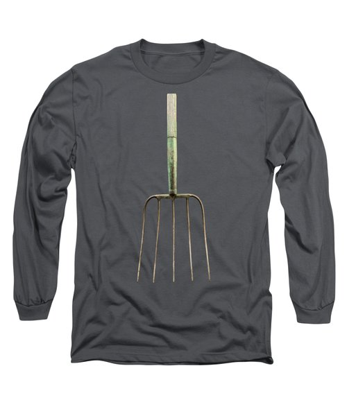 Tools On Wood 7 On Bw Long Sleeve T-Shirt by YoPedro