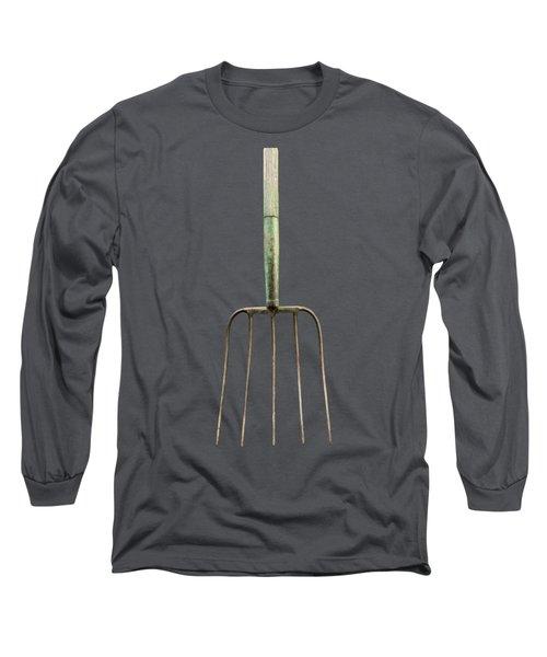 Tools On Wood 7 On Bw Long Sleeve T-Shirt