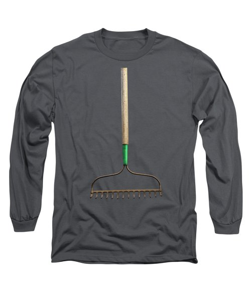 Tools On Wood 9 On Bw Long Sleeve T-Shirt by YoPedro