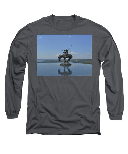 Top Of The Rock Infinity Pool Long Sleeve T-Shirt by Julie Grace