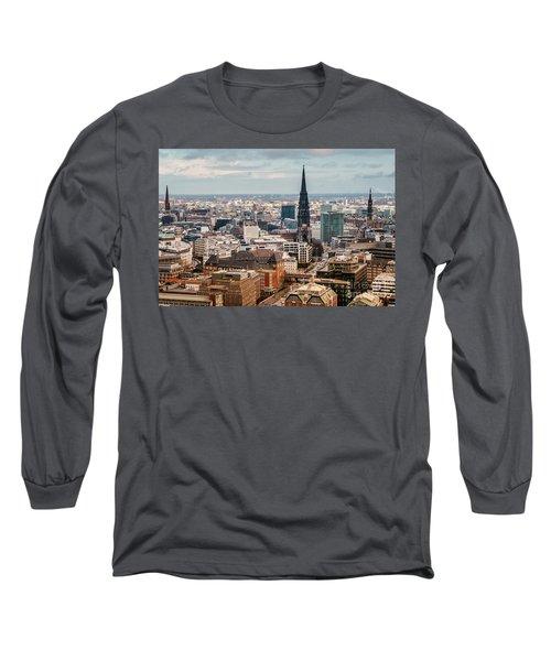 Top View Of Hamburg Long Sleeve T-Shirt