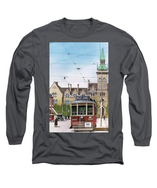 Long Sleeve T-Shirt featuring the painting Toronto Belt Line by Kenneth M Kirsch