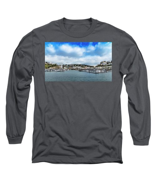 Long Sleeve T-Shirt featuring the photograph Torquay Devon by Scott Carruthers