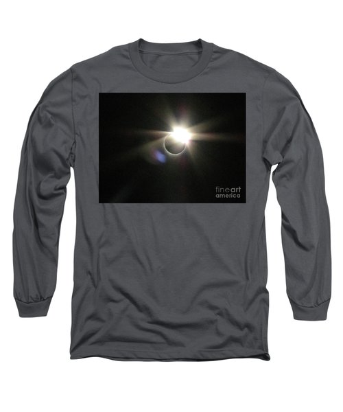 Total Eclipse 2017 Lens Flare Long Sleeve T-Shirt