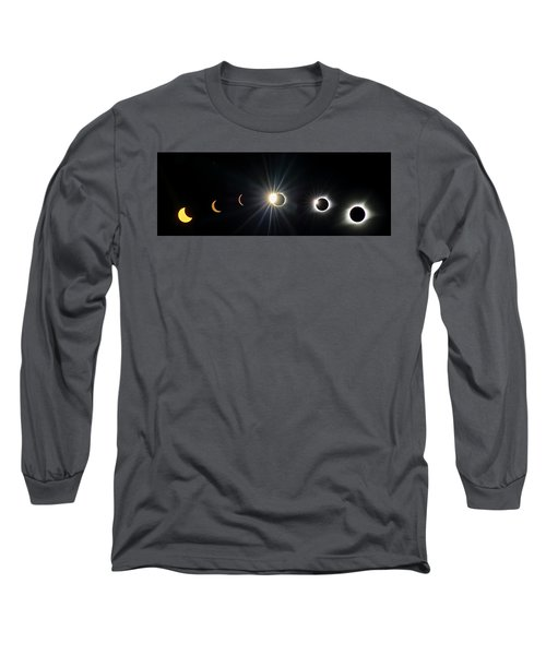 Total Solar Eclipse Sequence Long Sleeve T-Shirt