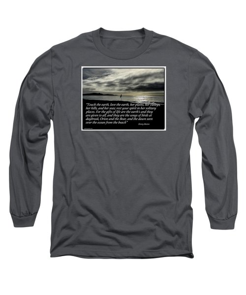 Touch The Earth Long Sleeve T-Shirt by David Norman