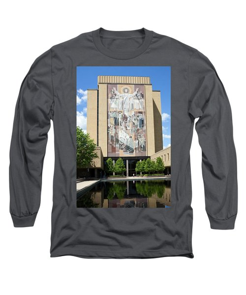 Touchdown Jesus Mural Long Sleeve T-Shirt by Sally Weigand