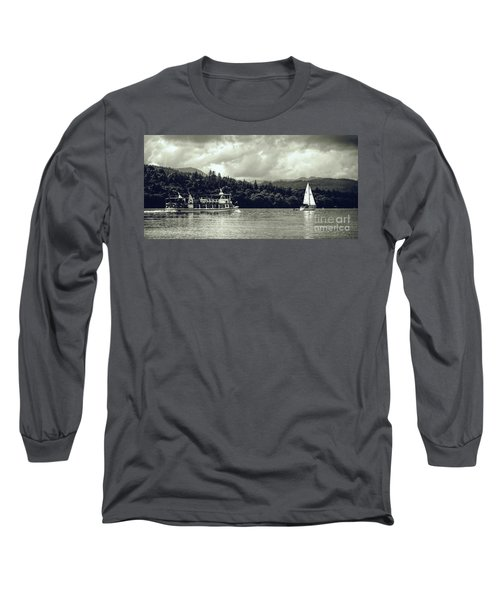 Touring The Lakes In Sepia Long Sleeve T-Shirt