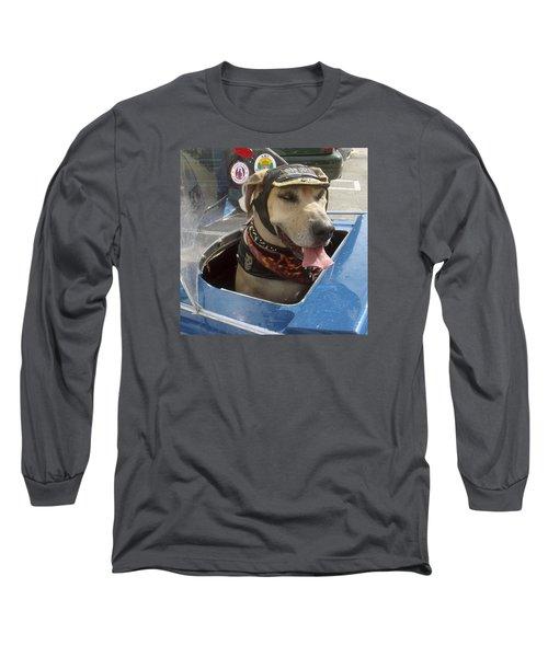 Tourist Dog 2 Square Long Sleeve T-Shirt