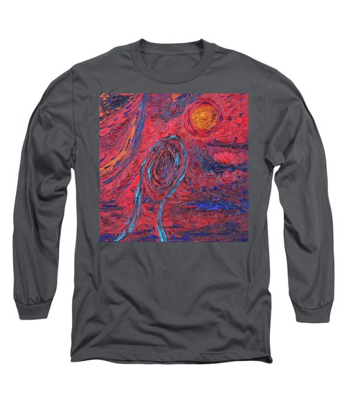 Long Sleeve T-Shirt featuring the painting Toward Survival by Vadim Levin