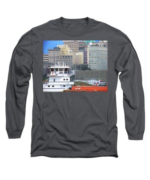 Towboat Robt G Stone At Memphis Tn Long Sleeve T-Shirt