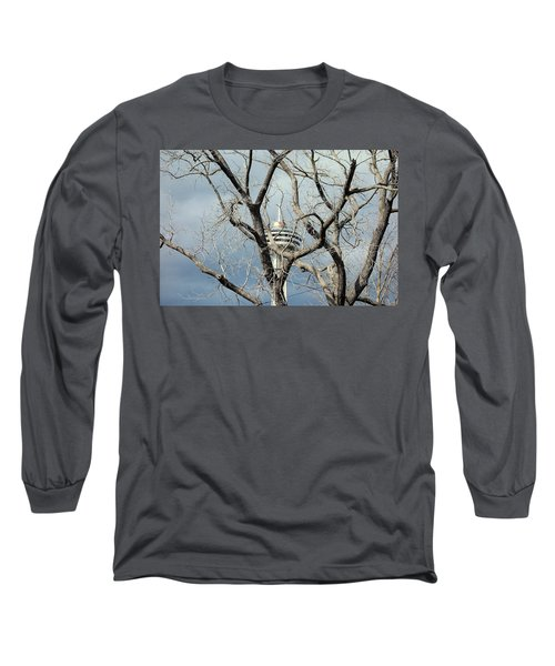 Long Sleeve T-Shirt featuring the photograph Tower And Trees by Valentino Visentini