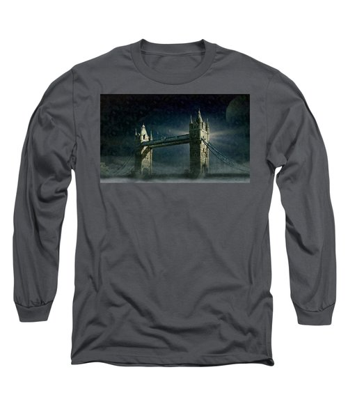Tower Bridge In Moonlight Long Sleeve T-Shirt