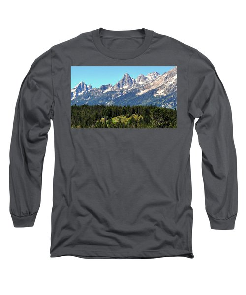Towering Teton Range  Long Sleeve T-Shirt