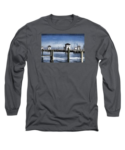 Towers And Masts Long Sleeve T-Shirt by Roberta Byram