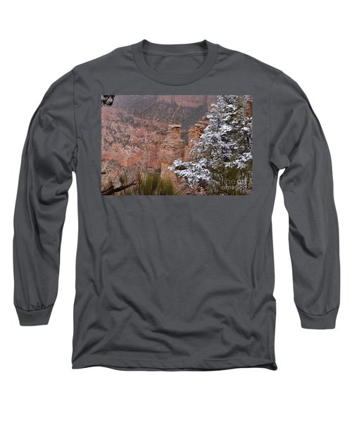 Towers In The Snow Long Sleeve T-Shirt by Debby Pueschel