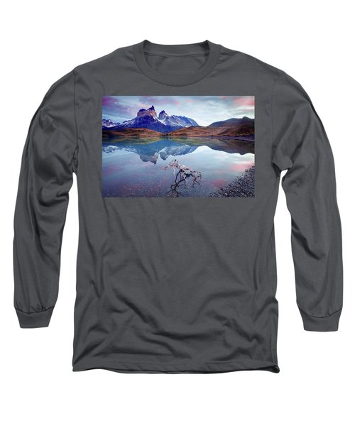 Long Sleeve T-Shirt featuring the photograph Towers Of The Andes by Phyllis Peterson