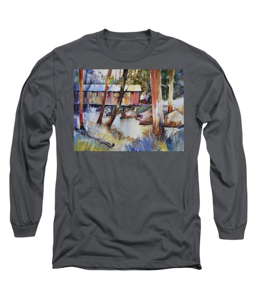 Covered Bridge Over Town Brook Long Sleeve T-Shirt