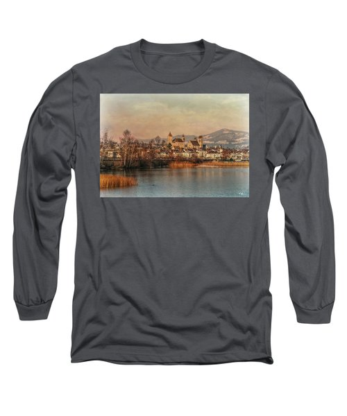 Long Sleeve T-Shirt featuring the photograph Town Of Roses by Hanny Heim
